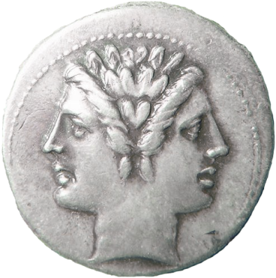 Consider the Character with this Janus Coin