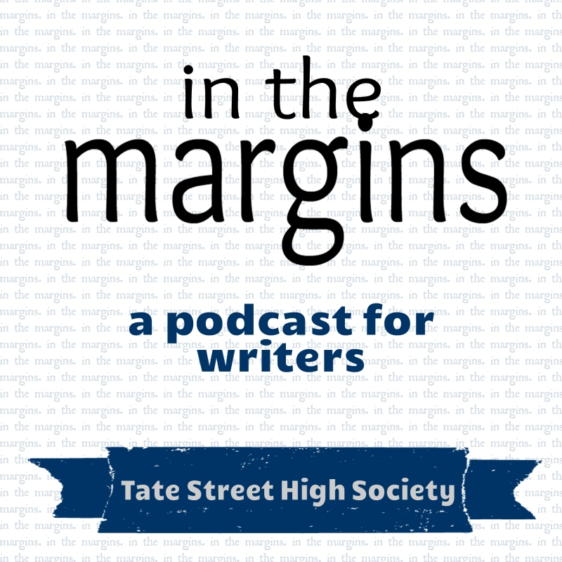 """In the Margins"" Podcast Graphic"